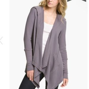Splendid thermal hoodie in grey